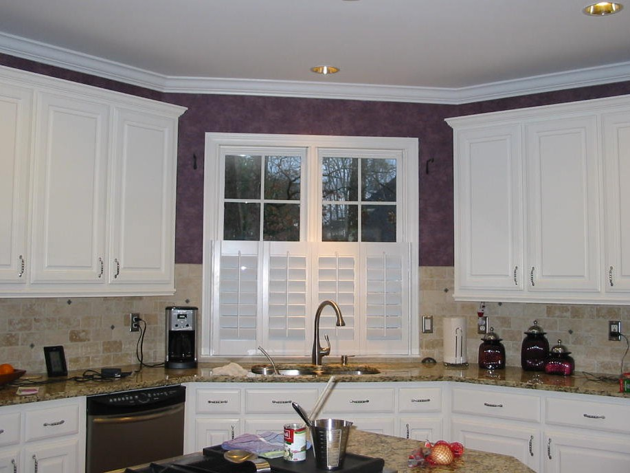 Before Kitchen - Window Treatments w/shutters were installed.