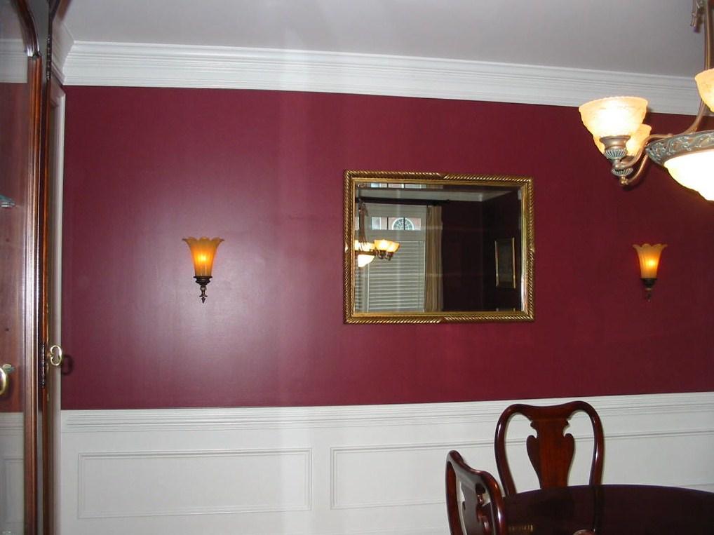 After Dining Room light sconces were installed.