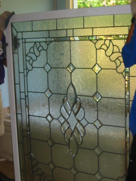 Before Master Bathroom Stained Glass Window was installed.