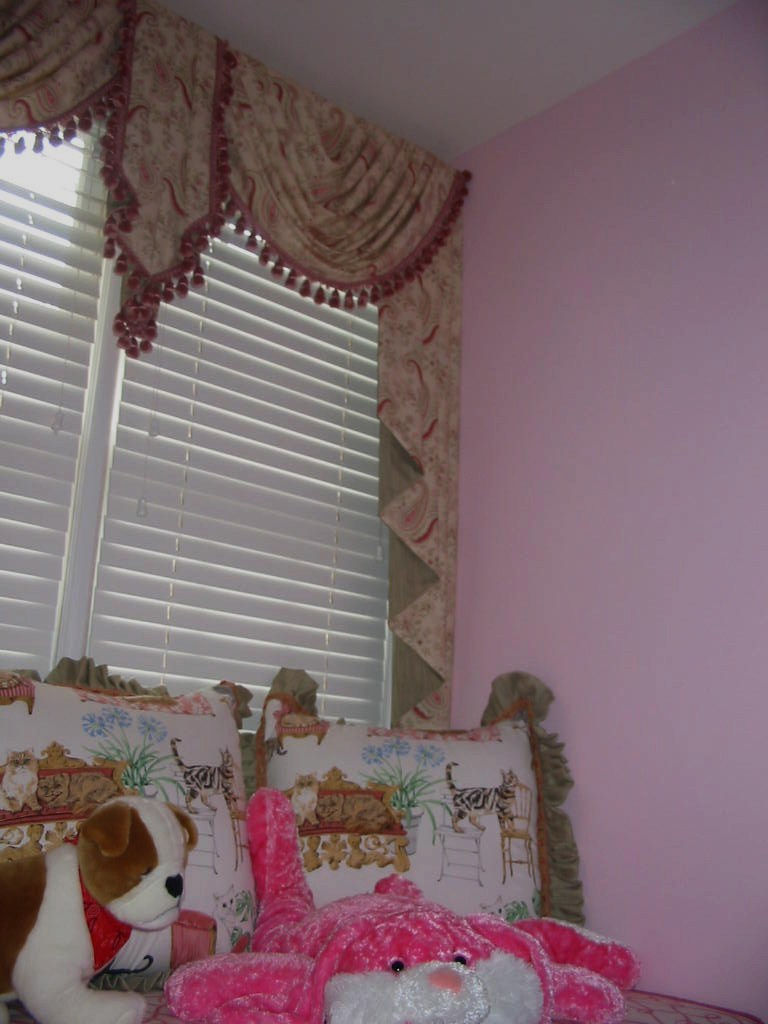 After Girl's Room Sitting Area, Window Treatments, and more!
