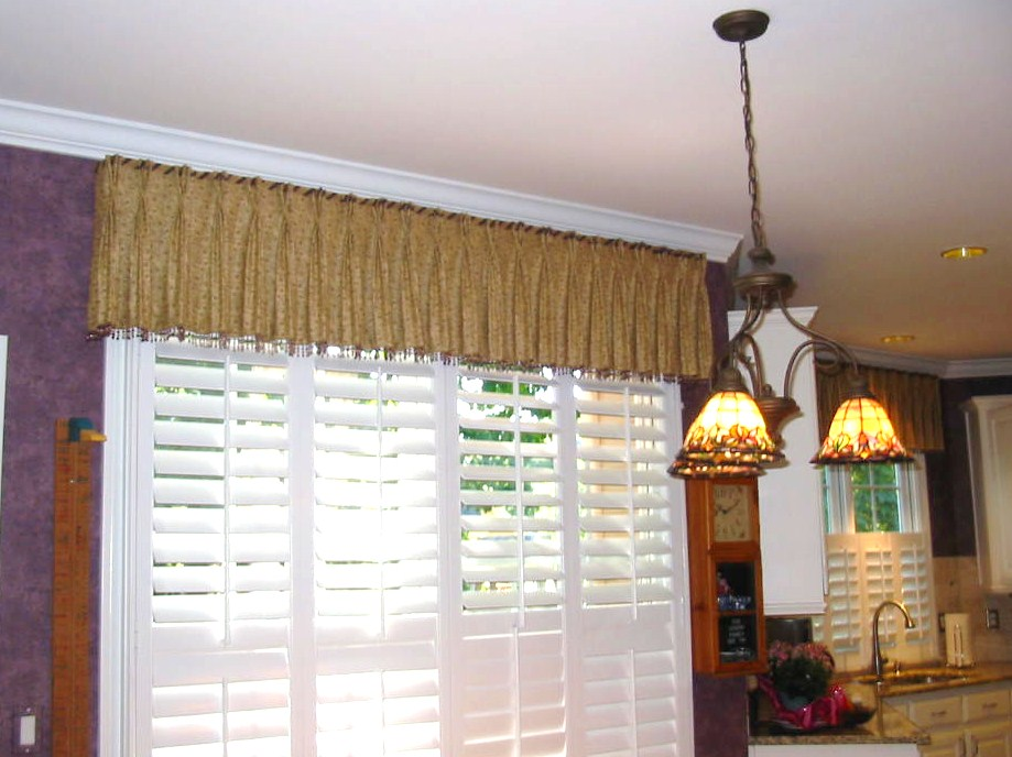 After Kitchen Window Treatment w/shutters were installed