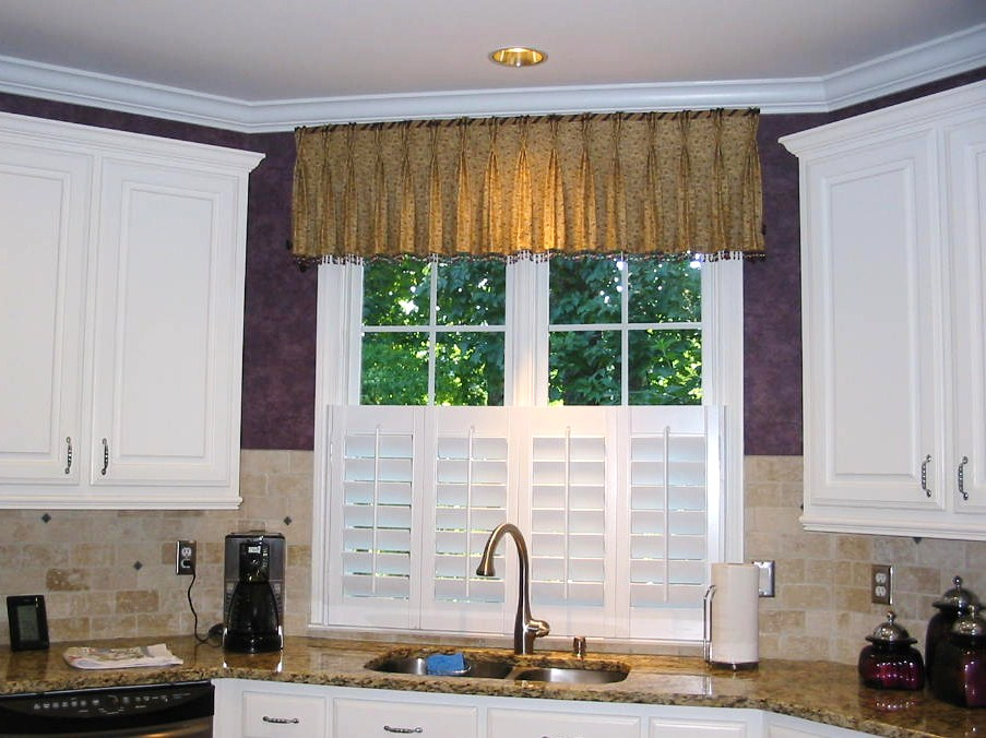 After Kitchen Window Treatments w/shutters were installed