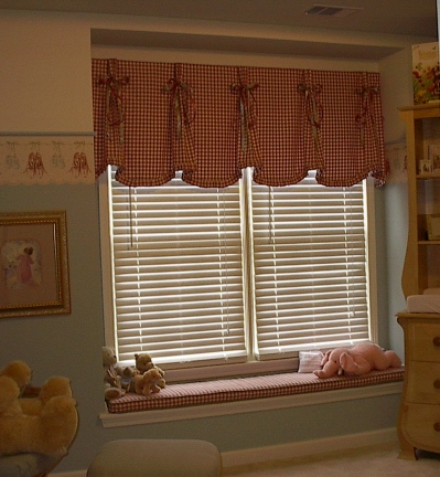 Baby's Room - Adorable Window Treatments - Seat Cushion