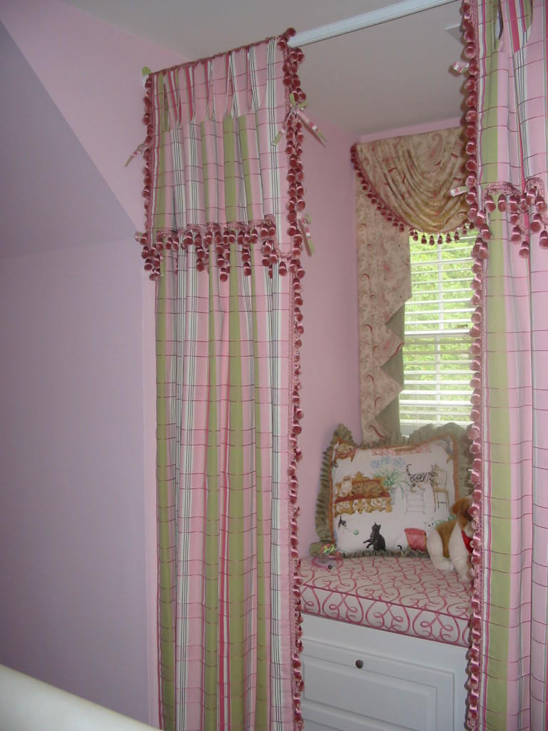 Girl's Room - Decorative Window Seat & Treaments, etc.
