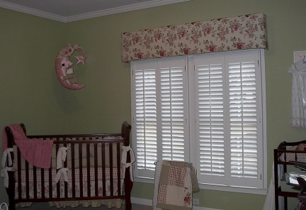 Baby's Room - Cornice Board w/Bedding - Shutters & more!
