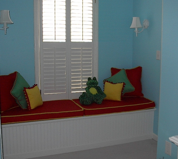 Children's Room - Window Seat Cushion - Shutters & more!