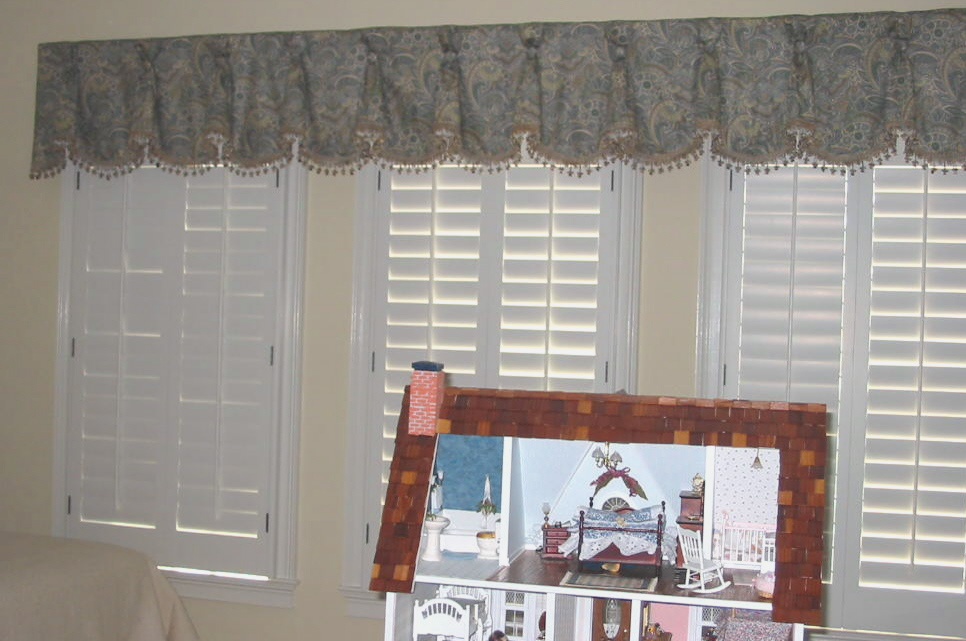 Girl's Room - Fancy Window Treatment & Shutters & more!