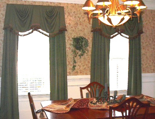 Dining Room - Window Treatments, wallpaper, and more!