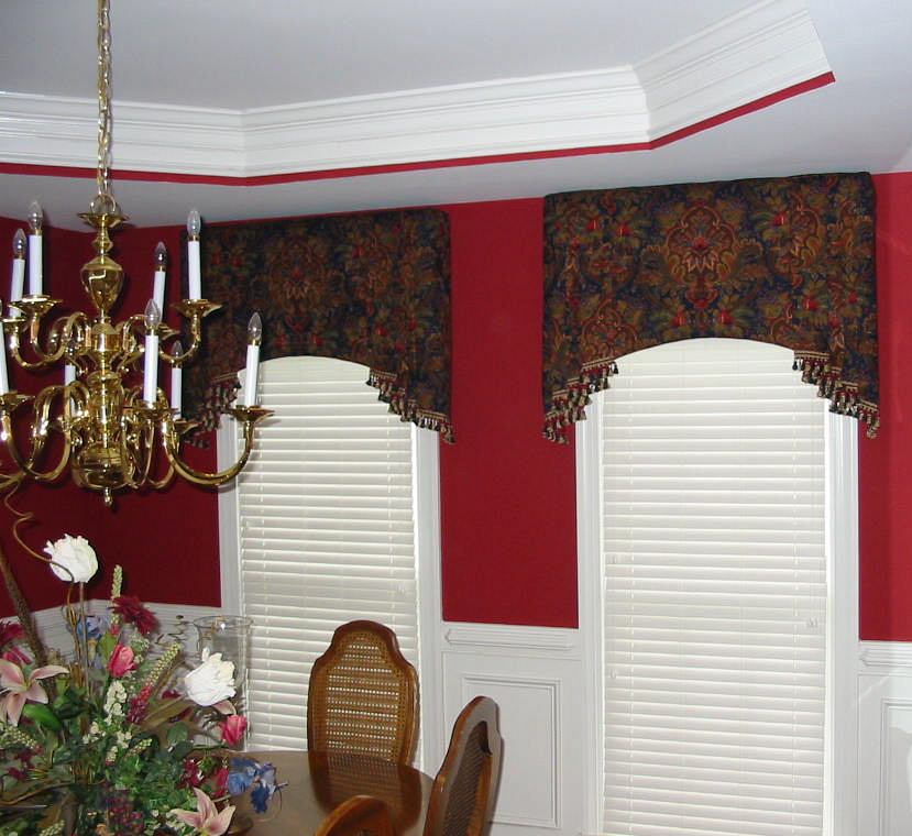 Dining Room - Beautiful arched Cornice Boards w/Jabots