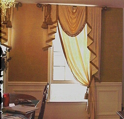 Dining room photos julia 39 s custom windows renovations for Formal dining room window treatments