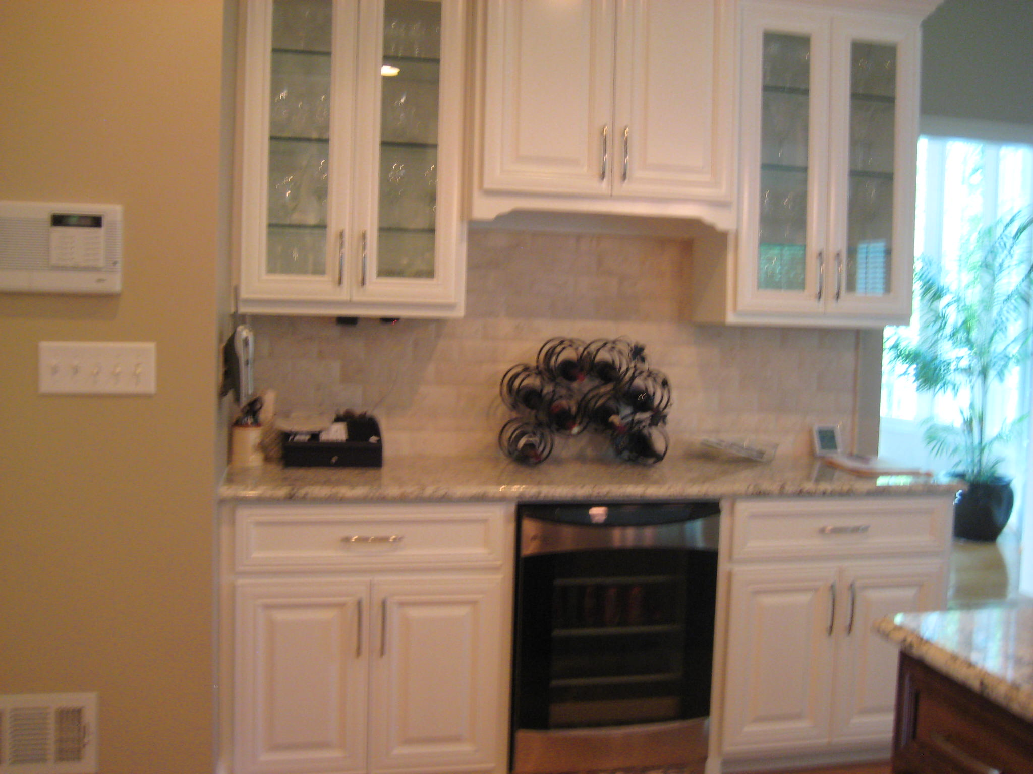 Kitchen renovation with new custom cabinets, appliances, granite and more.