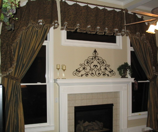 Family Room - Odd Window Treatment Solution