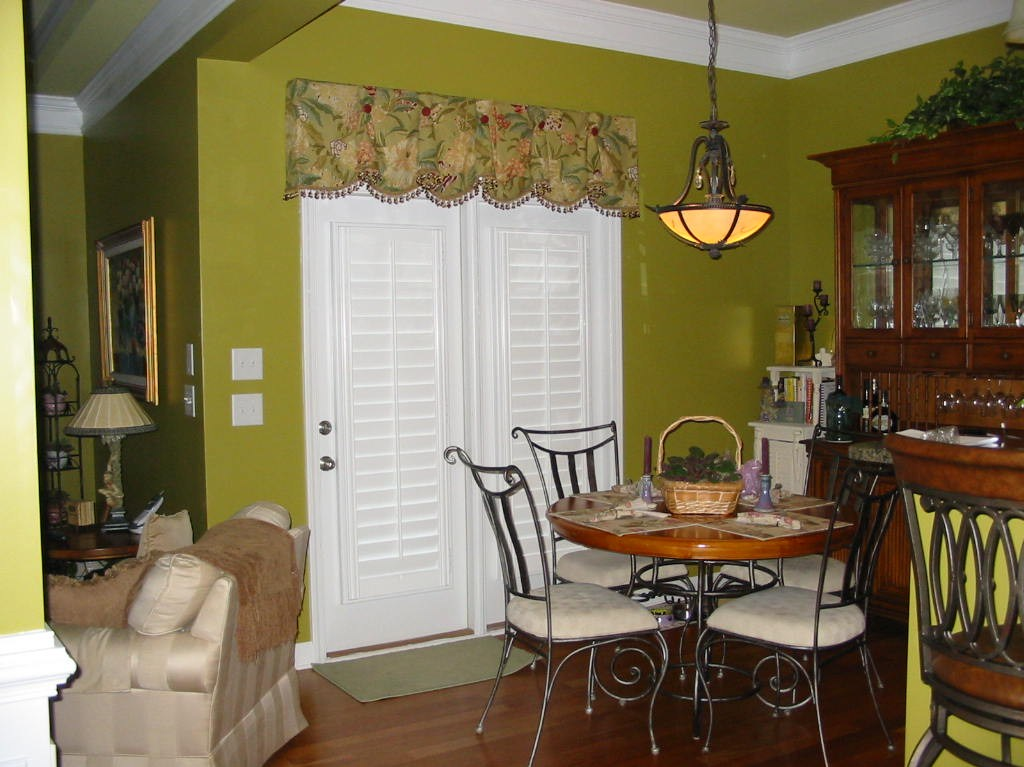Living Room - Beautiful Window Treatments, Shutters, Pillows, etc.
