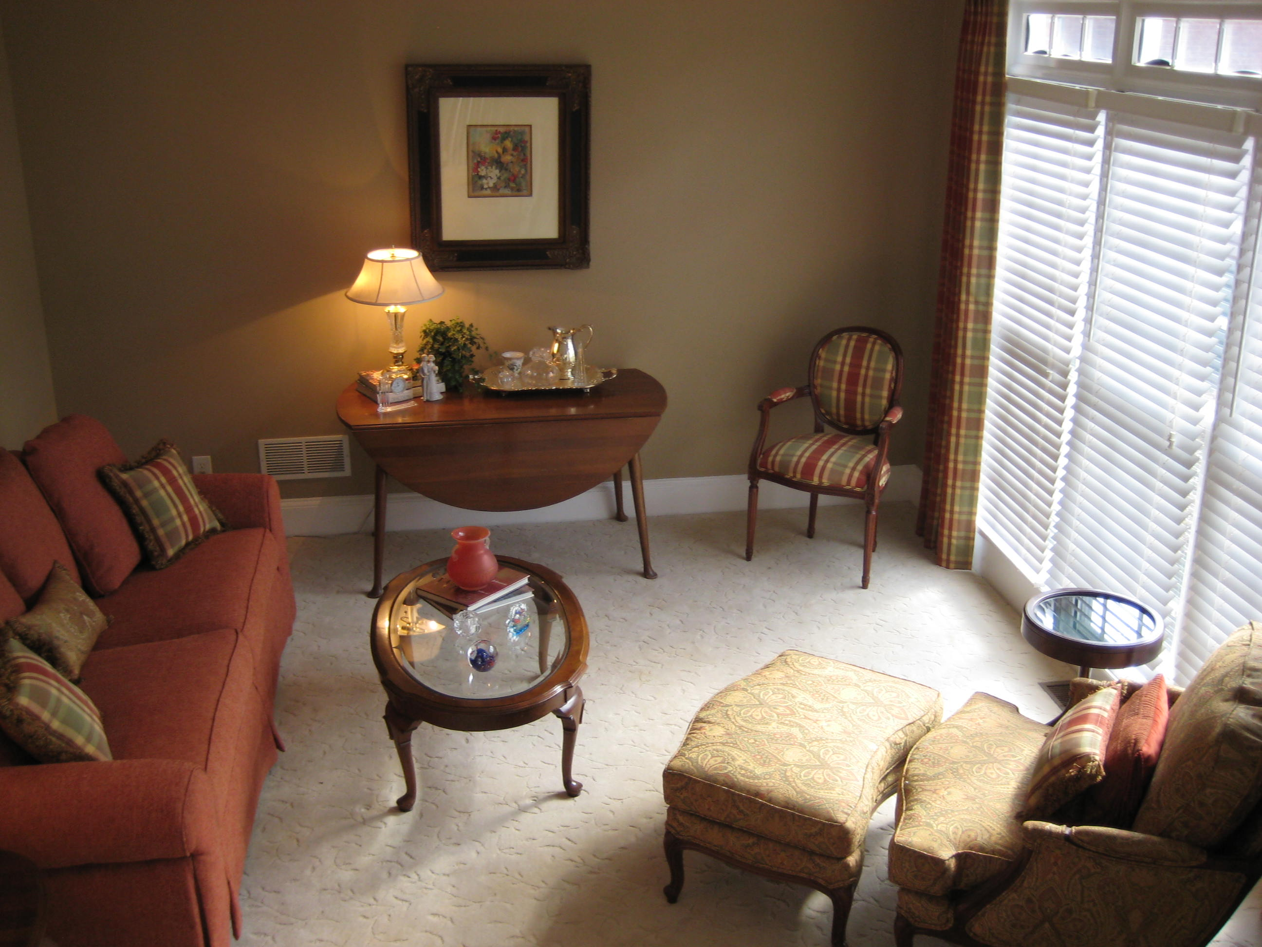 Living Rm. Make over. Upholstery, Window Treatments, etc.
