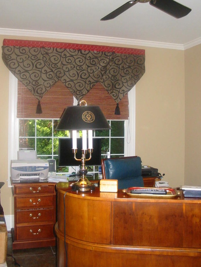 Living Rm. - Office Make over w/a Popping Window Treatment