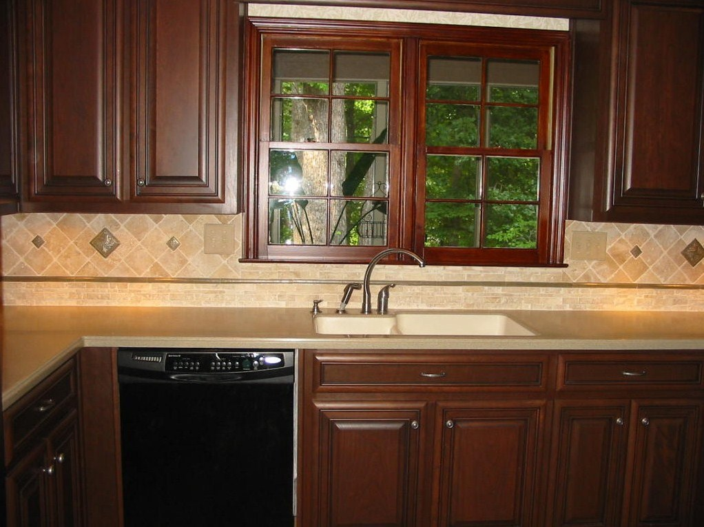 Kitchen Renovation Highlighting beautiful Tile Backsplash