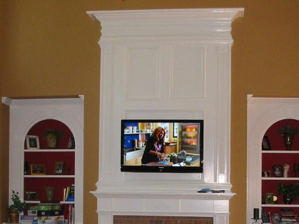 TV mounted over  Fireplace Mantle