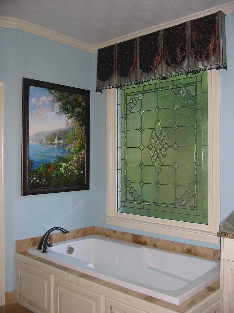 Bathroom Makeover - After-Stained Glass Window-Art Work, etc