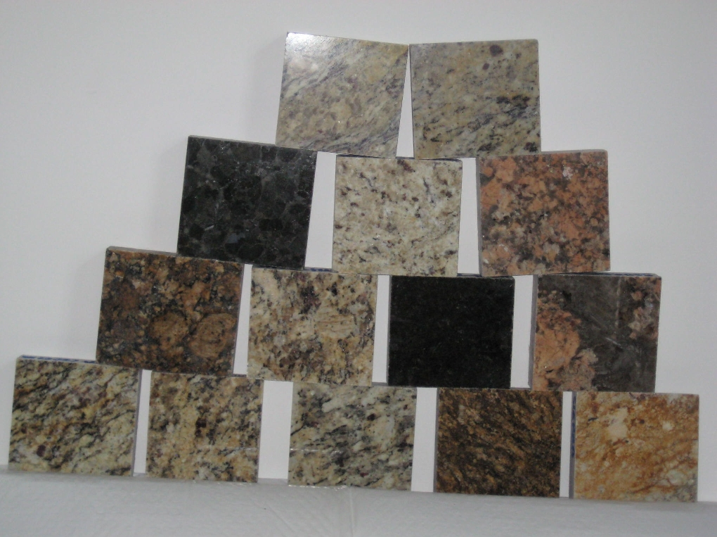Granite - Large variety of granite samples to choose from.