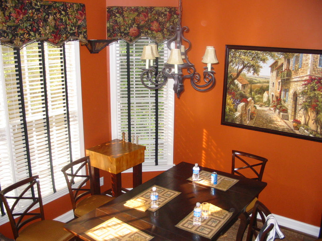 Kitchen Makeover with Art Work-Kitchen table & chairs, etc.